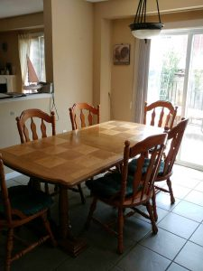 Solid Wood Table with 6 Chairs.